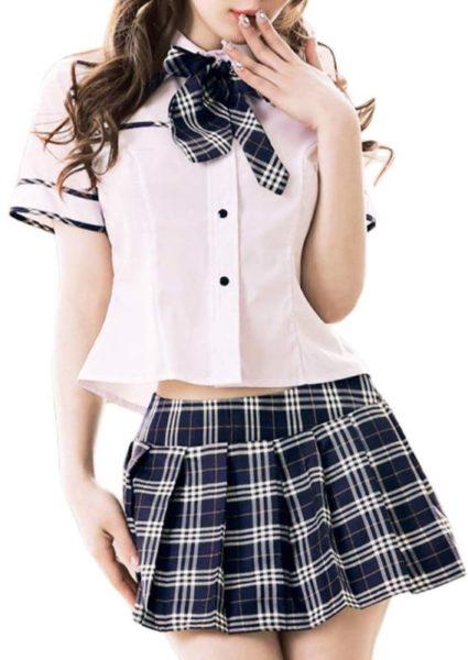Jewel Clothes Kobe 女子高生 制服 JK コスプレ 3点セット 衣装 コスチューム ミニスカ (ブラック)